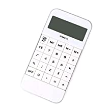 DF white Phone Shape Basic Electronic Calculator Simple 10 Digit Display