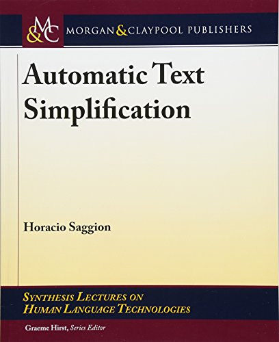 Automatic Text Simplification (Synthesis Lectures on Human Language Technologies) by Morgan & Claypool Publishers