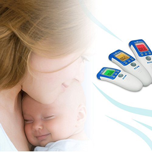Easy@Home 3 in 1 Non-contact Infrared Forehead Thermometer for Baby Adult and Child, NCT-301