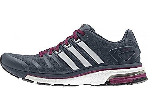 Adidas Adistar Boost-Scarpe da corsa da donna, misura inglese 9, colore grigio