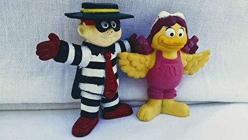 Hamburglar And Birdie Figures, 1995 McDonald's Happy