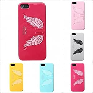 Angel Wings Stents Kickstand Hard Case Cover For iPhone 5 5S --- Color:Pink