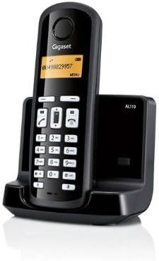 Siemens Gigaset SIAL110 - Teléfono fijo inalámbrico, agenda para 40 contactos, identificador de llamadas, color negro [Versión Importada]: Amazon.es: Electrónica