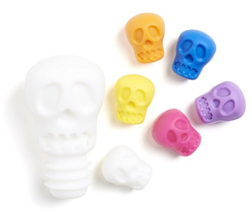 NOD Products Glass Markers and Stopper Set - Skulls - Each Set Includes (6) Markers + (1) -