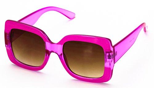Vintage Oversized Sunglasses (Oversized Elite Square Cute Luxury Sunglasses Gradient Lens Vintage Women Fashion Glasses (Pink))