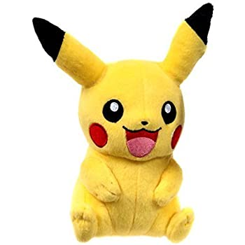 "TOMY USA Pokemon X & Y Pikachu Sitting Two Hands Down 9"" Plush (T18587)"