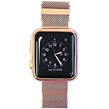 Mesh Apple Watch Band Replacement Strap - Apple Watch Face Cover and Band All-in-One Stainless Steel Milanese Mesh