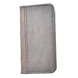 Apexel - Funda de piel sintética tipo libro para Apple iPhone 5 y 5S (tarjetero), diseño de libro retro, color marrón