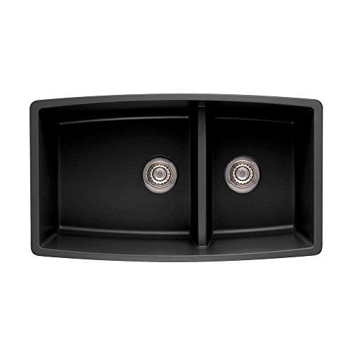 Blanco 441312 Performa 1.75 Medium Bowl Sink, (Blanco Granite Finish)