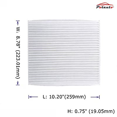 POTAUTO MAP 1020W Car Cabin Air Filter Replacement compatible with CHEVROLET, Captiva Sport, Equinox, GMC, Terrain, SATURN, Vue (Standard White): Automotive