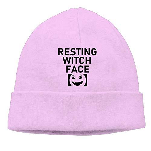 Resting Witch Face Black Women Beanie Hat Skull Cap]()