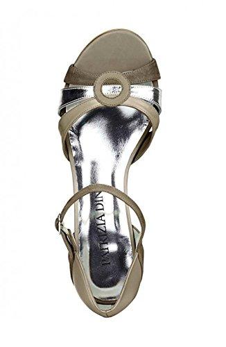 sandales à dINI femme PaTRIZIA silber Multicolore multicolore pour talons taupe 5qEnnxd