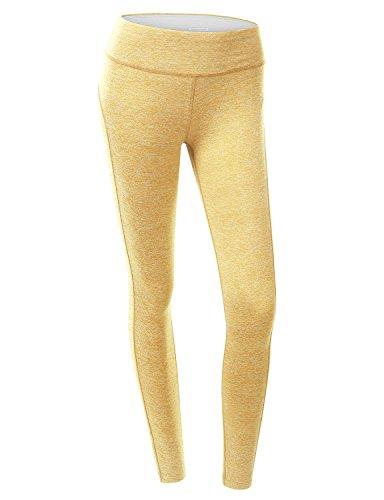 Stanzino Womens Blue Denim (Doublju Women Active Jersey Comfy Long Pants YELLOW,M)