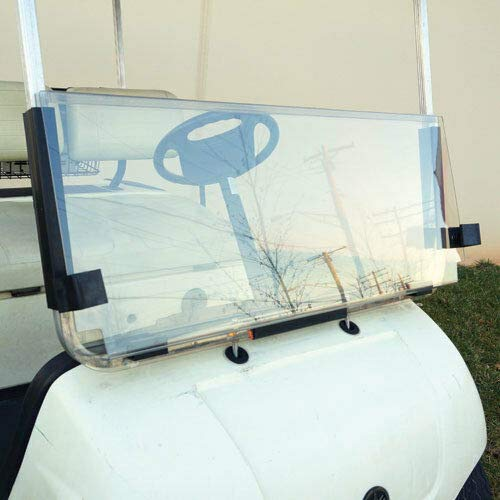 2003 Cart - ECOTRIC Clear Windshield for Yamaha G22 Models 2003-'06 | Folding Down Clear Windshield for Yamaha G22 Models Gas or Electric Golf Cart (2003-2006)