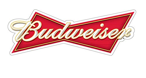 Craftmag Budweiser Logo Decorative Vinyl Sticker Decal Waterbotle Bumper Window Wall - 2 x 6 inch