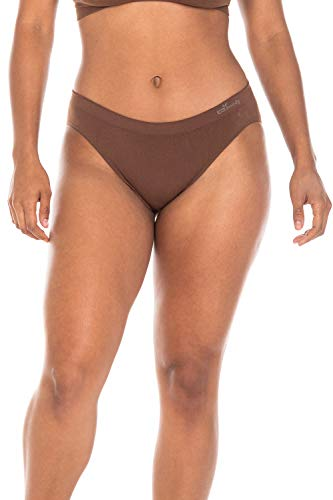 (Boody Body EcoWear Women's Classic Bikini Underwear Made from Natural Organic Bamboo Viscose - Soft Breathable Eco Fashion for Sensitive Skin - Nude 6, Small, Two Pack )
