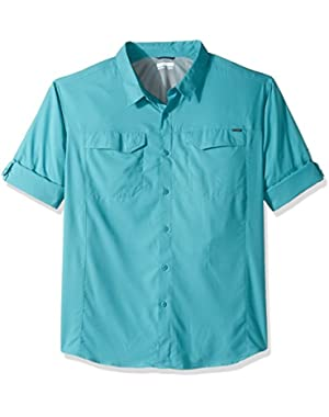 Men's Big-Tall Silver Ridge Lite Long Sleeve Shirt, Teal, 3X