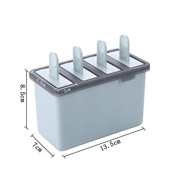 Rolin Roly Set di 2 Stampi per Gelato Durevole Stampi per ghiaccioli Riutilizzabile Gelati Crema Stampo Design a Doppio… 2 spesavip