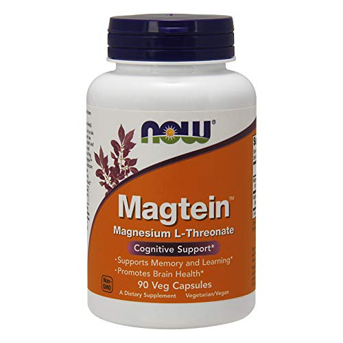 Cheap Now Supplements, MagteinTM with Patented Form of Magnesium (Mg), Cognitive Support*, 90 Veg Capsules most absorbable magnesium