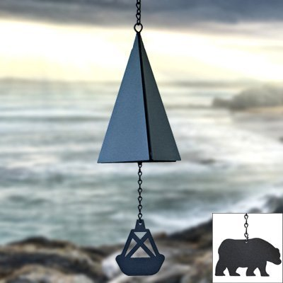 North Country Wind Bells44; Inc. 117.5040 Outer Banks Bell with black triangle wind catcher