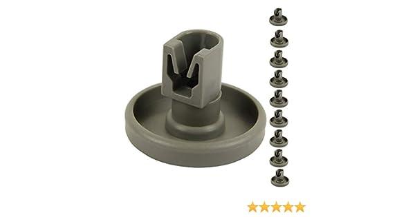Fablcrew - Ruedas de cesta inferior para lavavajillas AEG Favorit, Privileg, Zanussi (8 unidades)