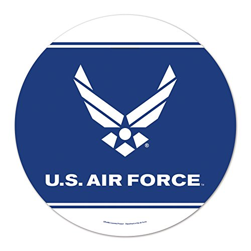 WinCraft United States Military U.S. Air Force Round Wood Signu.S. Air Force Round Wood Sign, Numerous, One ()