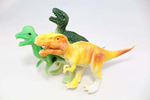 Moddan Extra Large Assorted Plastic Dinosaurs Toys 12 Pieces
