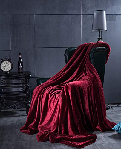 Mjdynasty Decke Falais Verdickung Fleece Decke Composite Decke Warm zu Halten, Lafite Rot, 100  120 B07G89QTHK Picknickdecken Räumungsverkauf