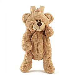 Cute Fuzz Plush Animal Teddy Bear/Panda/Dog/Kangaroo/Penguin Backpack Bags Toys for Toddles