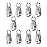 Erfo 10 Pack M15 Single Pulley Block,Hanging Wire