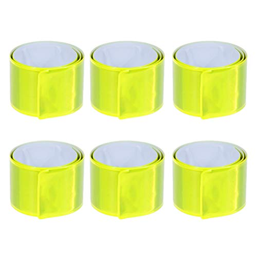 STOBOK 11pcs Slap Bracelets PVC Party Favors Reflective Snap Kids Play Bracelets Running Safety Bandsx Party Supplies for Kids (Fluorescent Green) ()