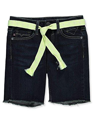 VIGOSS Big Girls' Bermuda Short, Belted Rinse Dark, 10