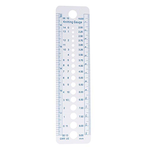A Ruler - 1pc Kintting Gauge Ruler Measuring Plastic Blue Line Soft Strong Durable - Laundry Folders Ball Glasses Duty Rectangle Mask Basket Straws Jewels Roll Pacifiers Chair Soap Necklace Spo