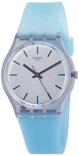 Swatch Originals Sea-Pool Grey Dial Silicone Strap Ladies Watch ()