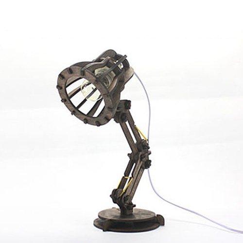 Pumpink Diseño Original de Madera DIY Lámpara de Mesa Lámpara de ...