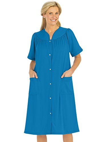 (Snap-Front Duster Robe Blue)