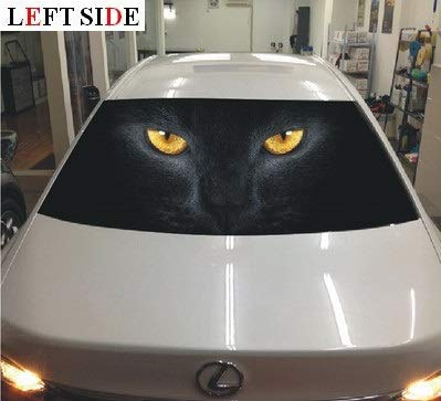 Used, Left Side Car Stickers Perforated PVC Car Window After for sale  Delivered anywhere in Canada