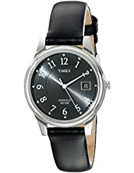 Timex Mens T29321 Porter Street Black Leather Strap Watch