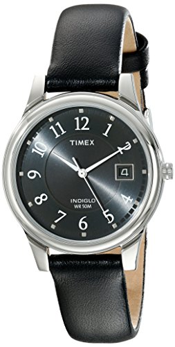 Timex Men's T29321 Porter Street Black Leather Strap Watch