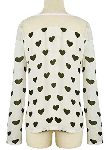 KOINECO - Camiseta de manga larga - para mujer