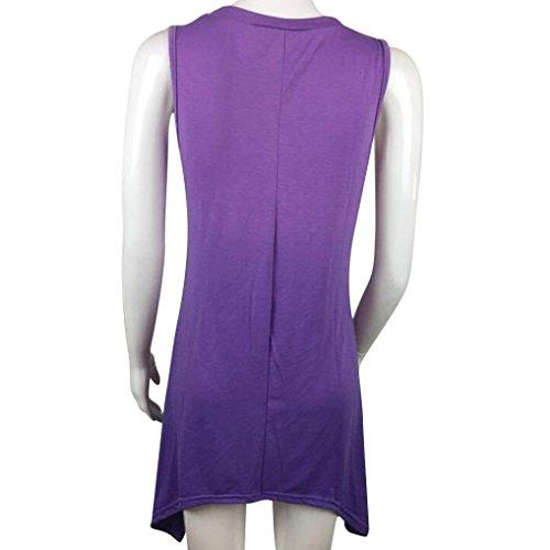OverDose mujer vestido sin hombro vestido atractivo del teñido anudado Púrpura