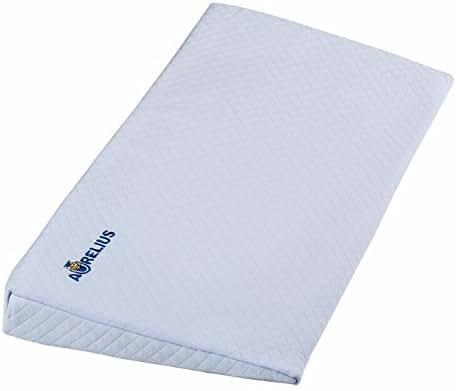 Aurelius Universal Crib Wedge Pillow for Baby Memory Foam Baby Reflux Wedge,26