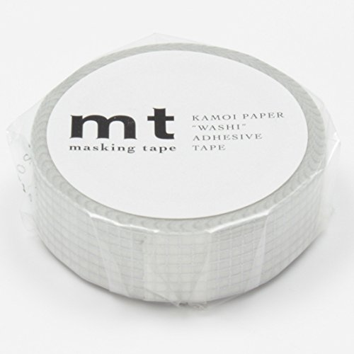 MT Washi Masking Tape Grid Silver (MT01D150)
