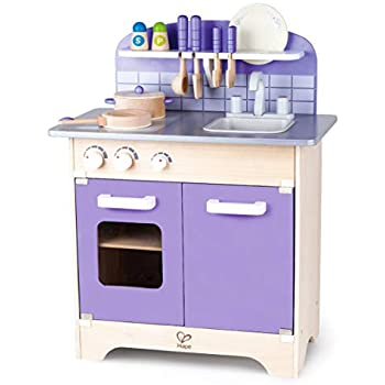 Amazon Com Hape Gourmet Kitchen Kid S Wooden Play Kitchen