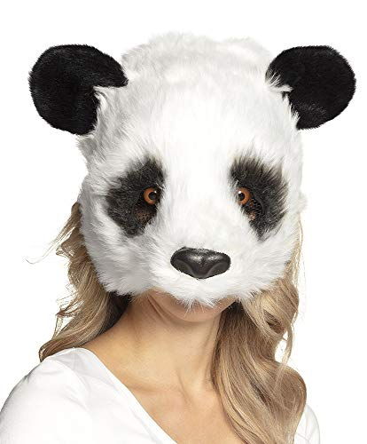 Boland Panda Mask Adult Plush Half Face Mask Bear Halloween Fancy Dress Accessory