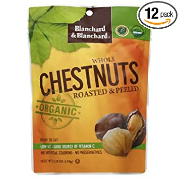Blanchard Organic Whole ChestnutsRoasted and Peeled (Pack of 12)