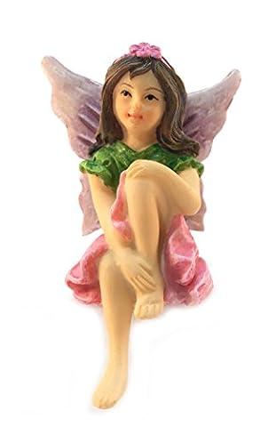 Emma the Sitting Garden Fairy – a Miniature Fairy Statue for Your Fairy (Acqua Gnome)