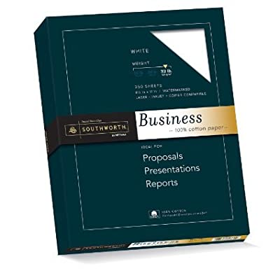 Southworth 100% Cotton Business Paper, 8.5 x 11 Inches, 32lb, Ivory, 250 per Box (JD18IC)