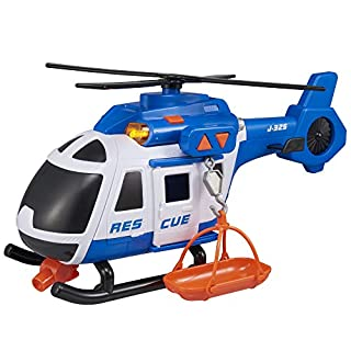 Teamsterz 1416393 Light and Sound Rescue Helicopter Toy, 3-6 Years