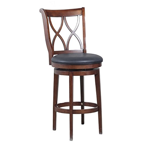Powell Furniture 15B8189BS Carmen Circular Bross Bar Stool - Powell Brown Bar Stools